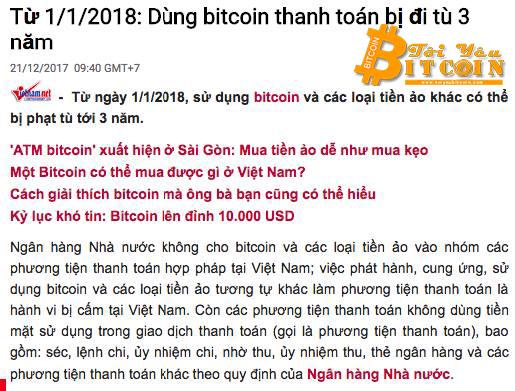 Bitcoin có hợp pháp hay không?