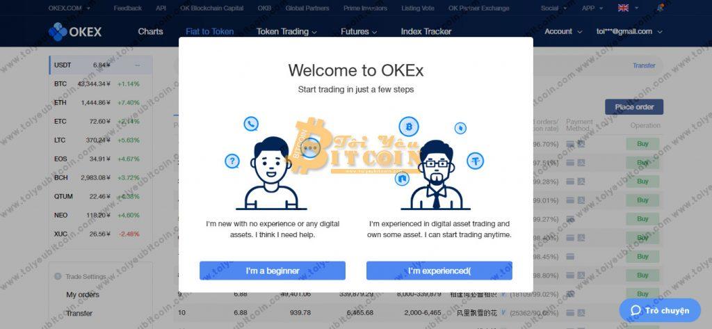 Đăng ký mở tài khoản OKEx. Ảnh 5
