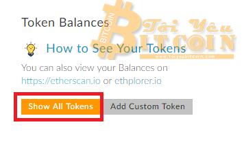 Add token vào ví MEW. Ảnh 5