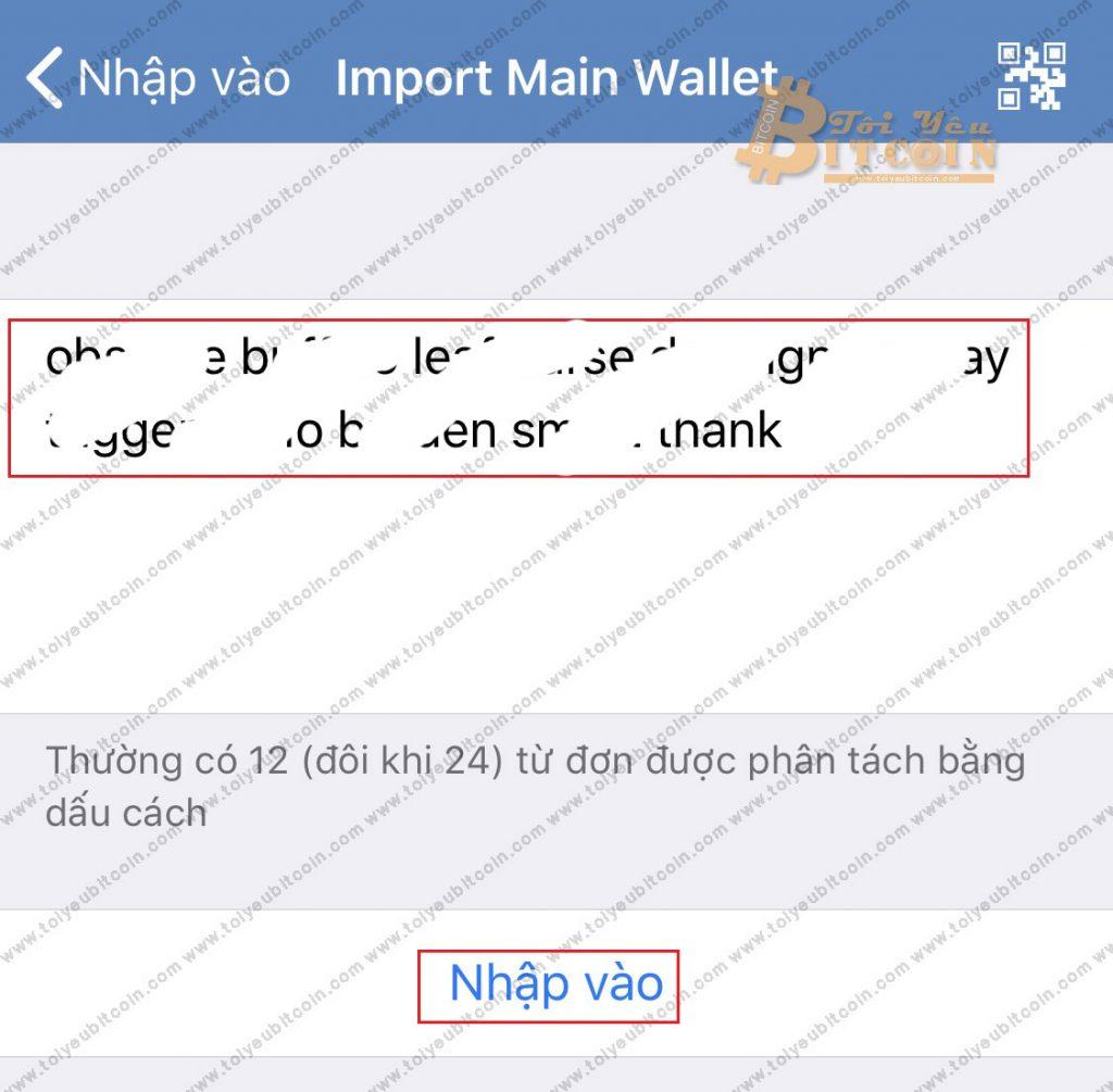 Khôi phục ví Trust Wallet. Ảnh 3