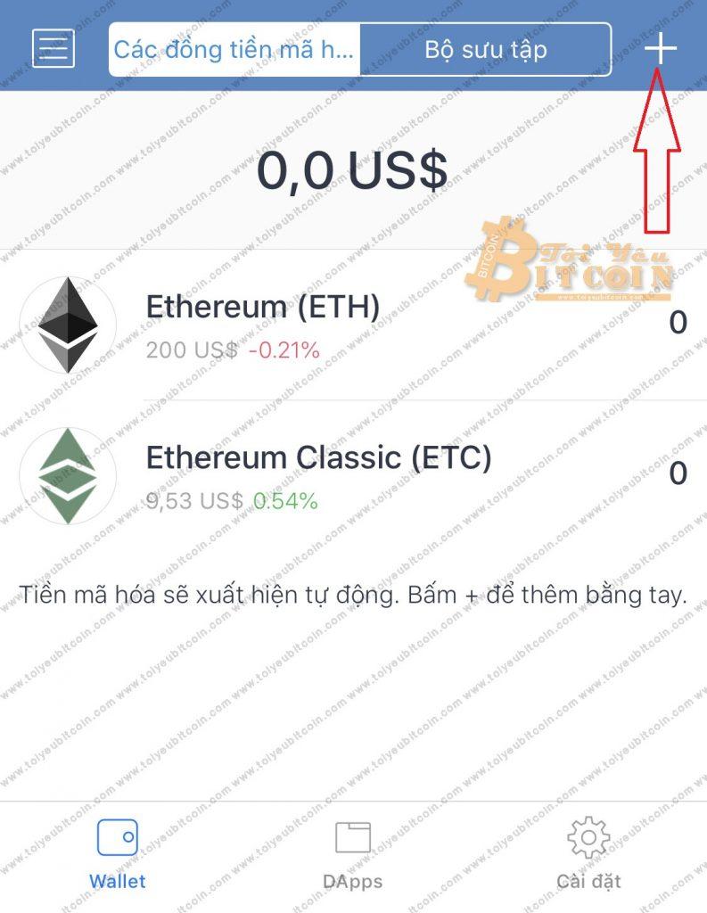 Add token vào ví Trust Wallet. Ảnh 1