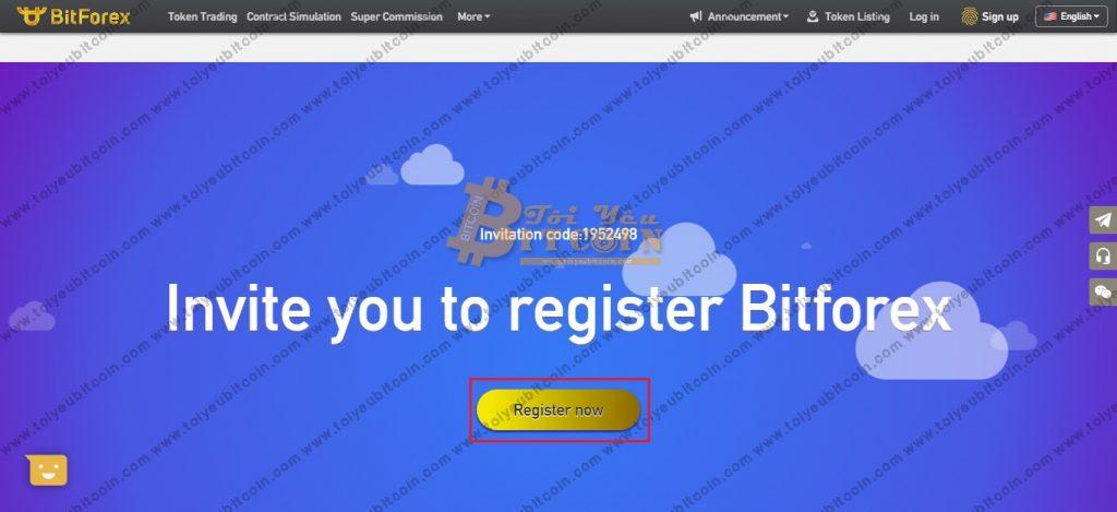 Đăng ký tạo tài khoản BitForex. Ảnh 1