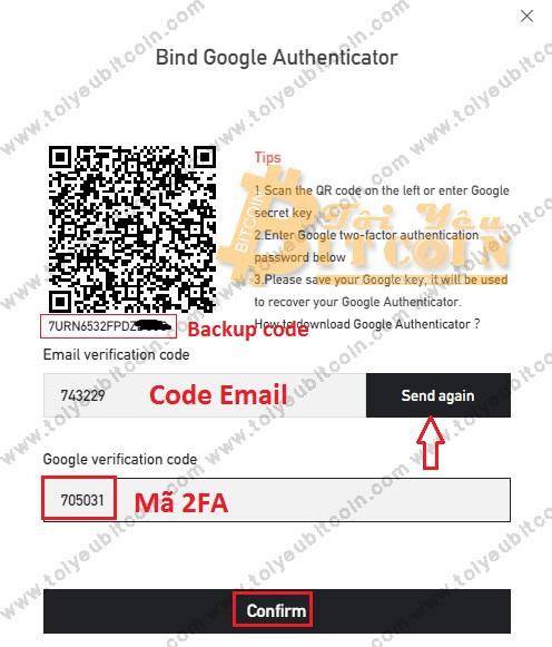 Bảo mật tài khoản BitForex. Ảnh 3