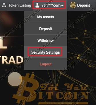 Bảo mật tài khoản BitForex. Ảnh 1