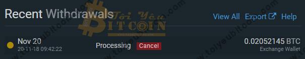 Rút tiền từ sàn Bitfinex. Ảnh 9