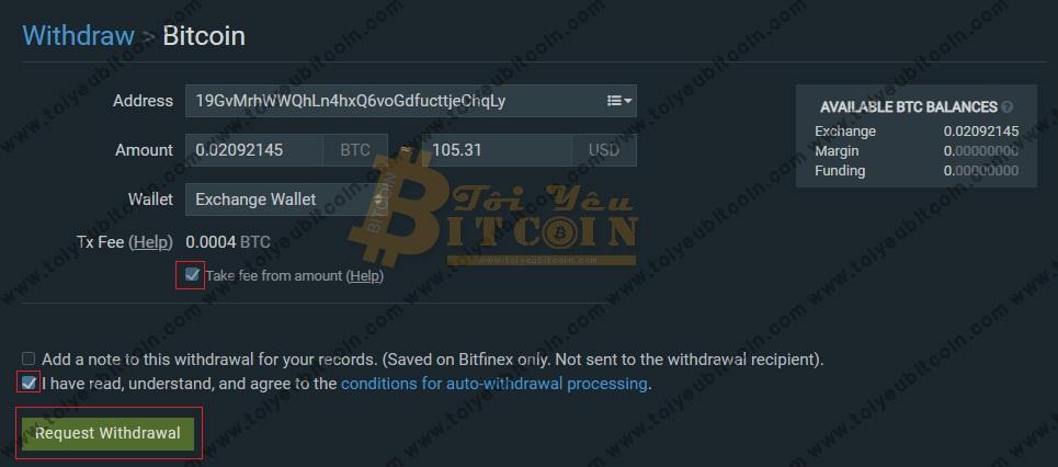 Rút tiền từ sàn Bitfinex. Ảnh 4