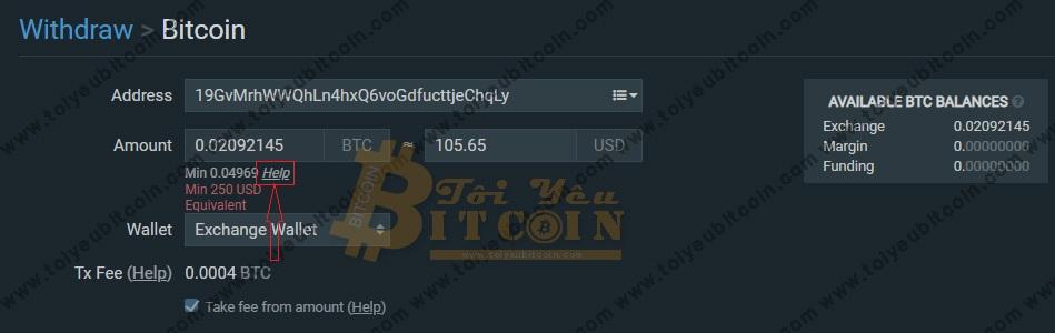 Rút tiền từ sàn Bitfinex. Ảnh 2