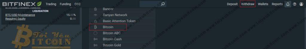 Rút tiền từ sàn Bitfinex. Ảnh 1