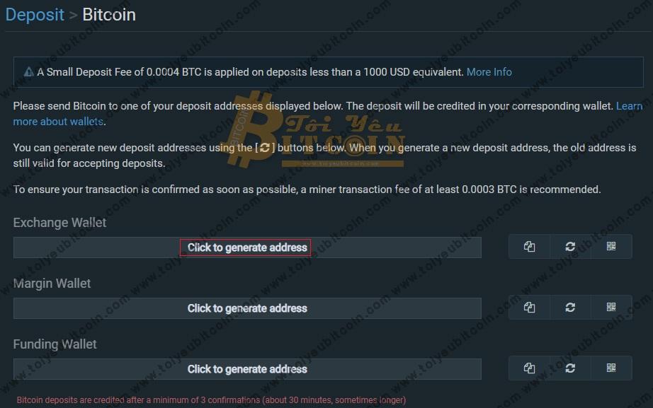 Nạp tiền vào sàn Bitfinex. Ảnh 3