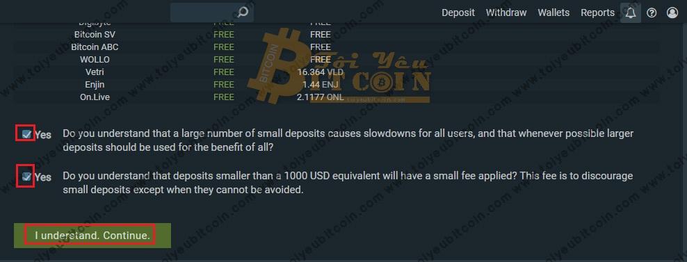 Nạp tiền vào sàn Bitfinex. Ảnh 2