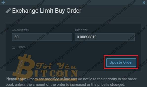 Cách trade coin trên sàn Bitfinex. Ảnh 6