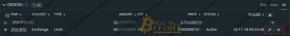 Cách trade coin trên sàn Bitfinex. Ảnh 5