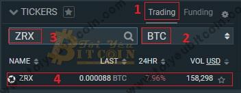Cách trade coin trên sàn Bitfinex. Ảnh 2