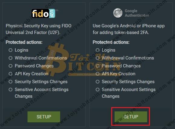 Bảo mật tài khoản sàn Bitfinex. Ảnh 3