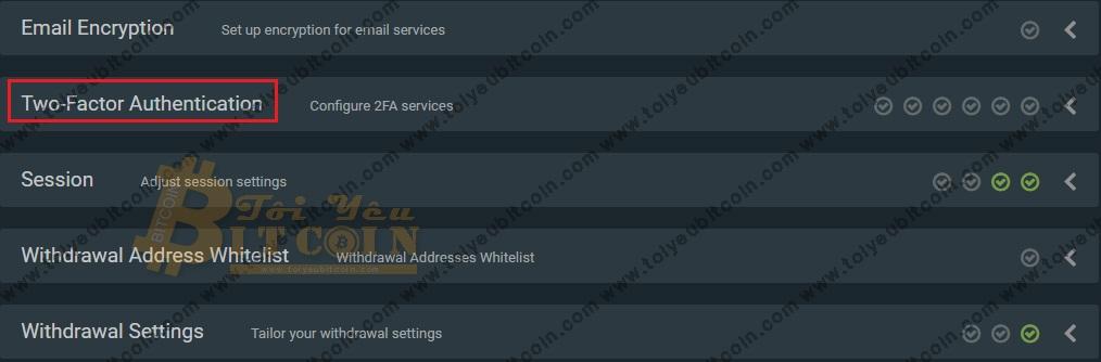Bảo mật tài khoản sàn Bitfinex. Ảnh 2
