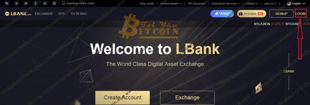 Đăng nhập vào Lbank. Ảnh 1