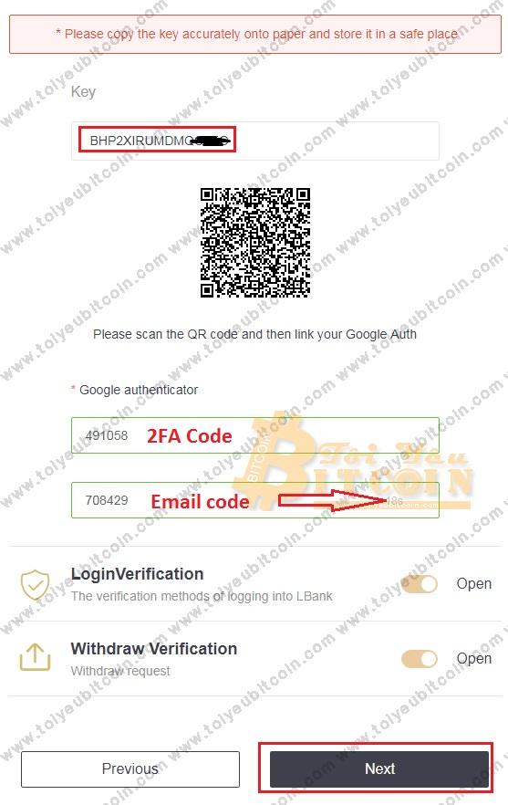 Bảo mật 2FA cho LBank. Ảnh 5