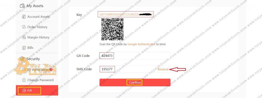 Bật bảo mật 2FA tài khoản DragonEX. Ảnh 1