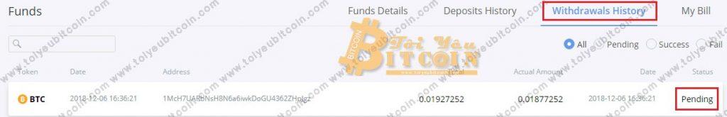 Rút tiền từ Bibox. Ảnh 6