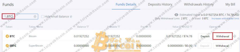 Rút tiền từ Bibox. Ảnh 2