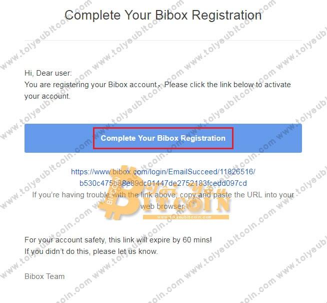 Đăng ký mở tài khoản Bibox. Ảnh 3