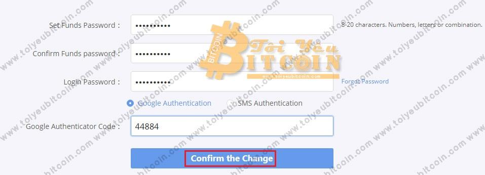 Thiết lập mật khẩu rút tiền Bibox. Ảnh 2
