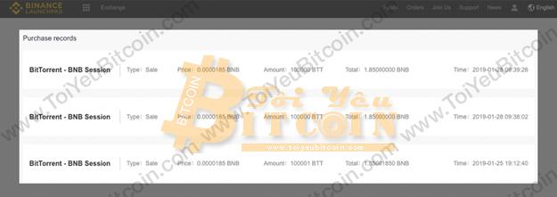 Cách mua token trên Binance Paunchpad. Ảnh 9