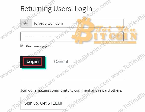 Cách đăng nhập vào Steemit. Ảnh 2