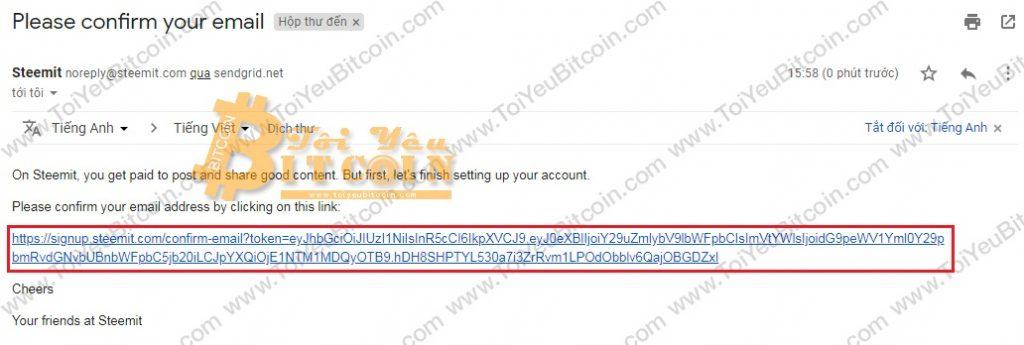 Tạo tài khoản ví Steem coin trên Steemit miễn phí. Ảnh 6