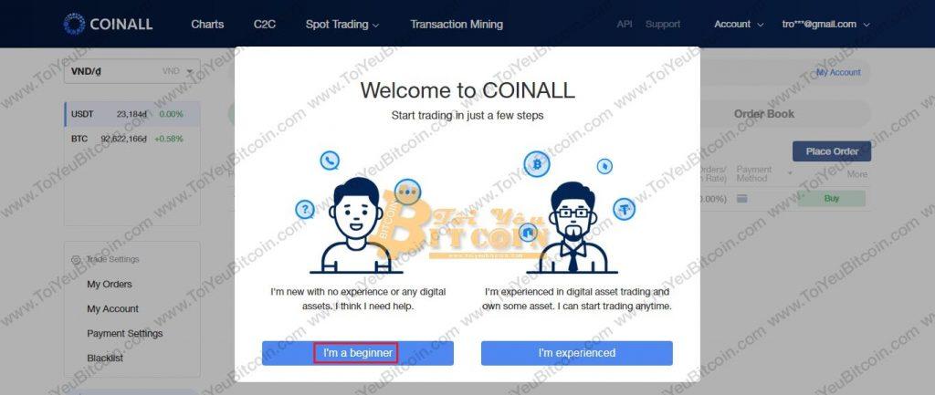 Các đăng ký tạo tài khoản CoinAll. Ảnh 4