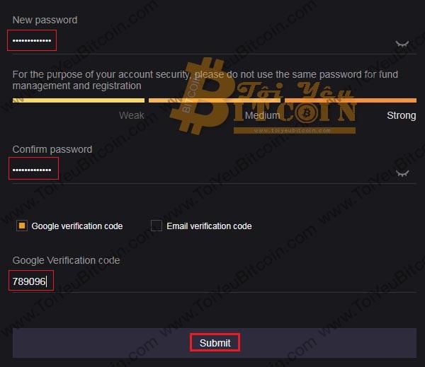 Thiết lập Fund password trên sàn Coinsuper. Ảnh 2