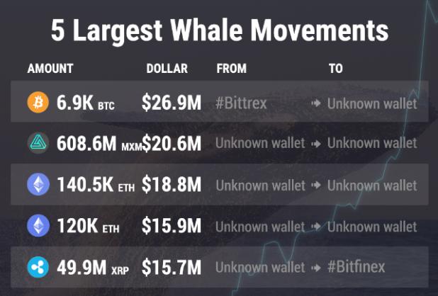Top 05 giao dịch cá voi trong tuần, nổi bật nhất là giao dịch MXM.