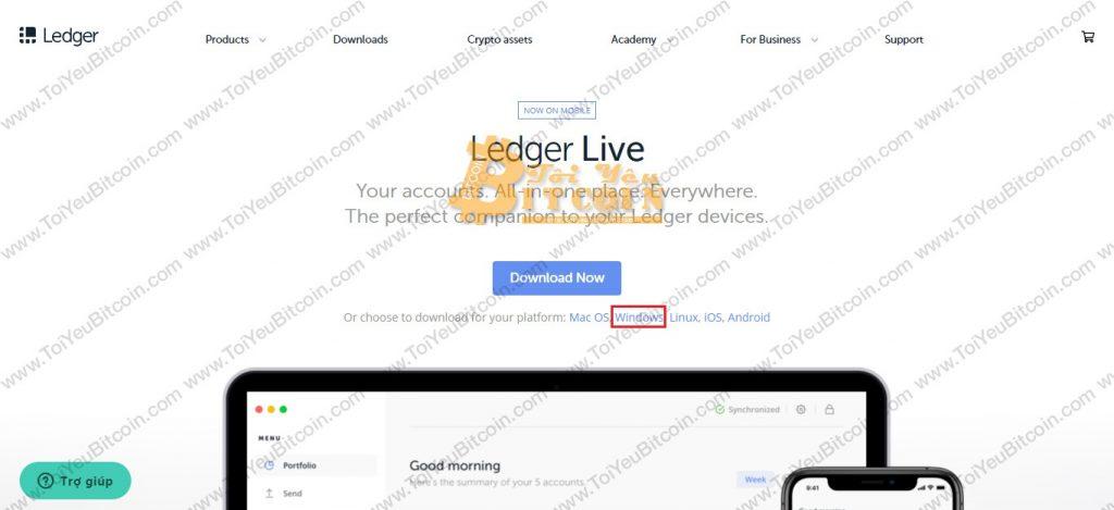 Cài đặt Ledger Live trên máy tính. Ảnh 1