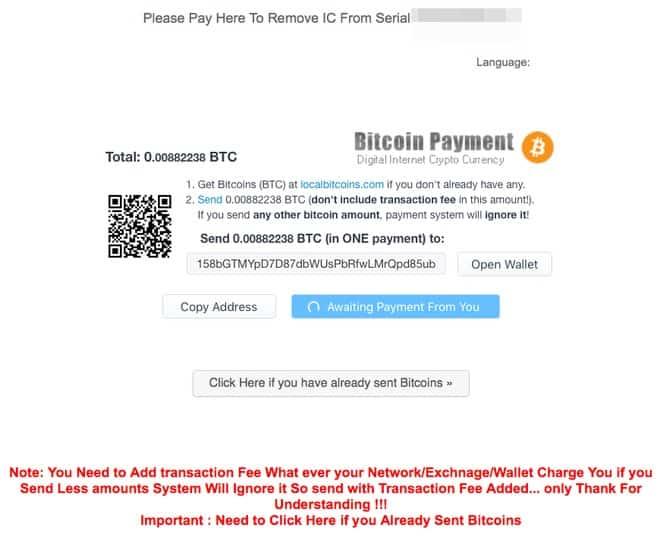 M******* chuyển sang tống tiền Bitcoin người dùng trước đây bị khoá iCloud, đòi 1,6 triệu đồng để mở khoá.