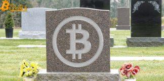 """Bitcoin đang """"hấp hối"""", ít nhất là lần thứ 378 tính đến hiện tại"""