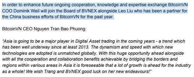 """Từng chúc nhau thành công, nay BitcoinVN lại """"phủi tay"""" khi nói về Bvnex"""