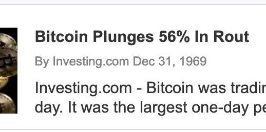 Ảnh chụp màn hình cho thấy tiêu đề và ngày của bài viết Investing.com. (Nguồn: Twitter)