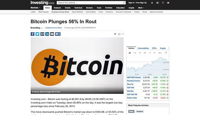 Ảnh chụp màn hình của bài viết đã bị xóa trên Investing.com. (Nguồn: Googleusercontent)