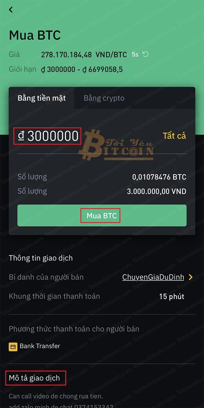 Cách mua tiền điện tử bằng VND trên Binance P2P. Ảnh 2