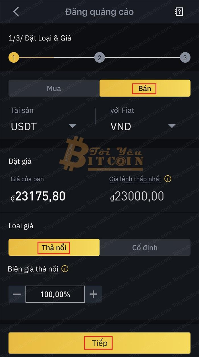 Cách tạo quảng cáo bán coin trên Binance P2P. Ảnh 1