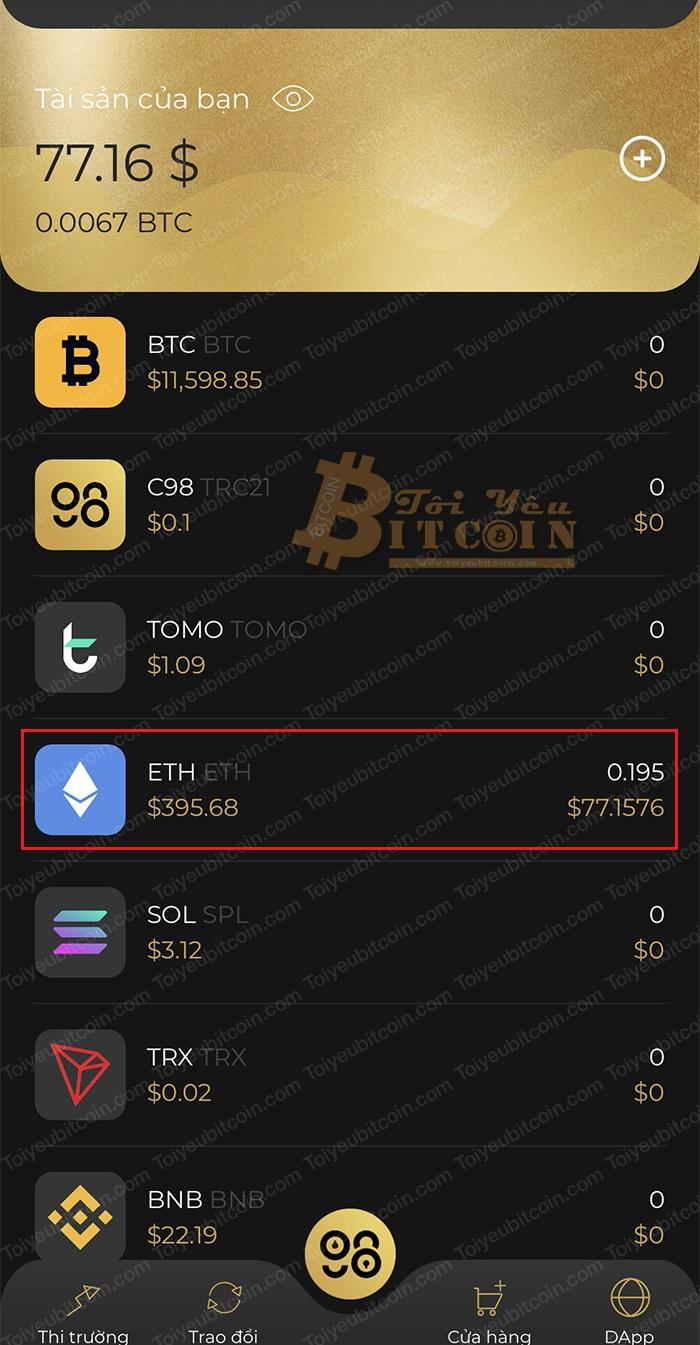 Cách nạp coin/token vào ví Coin98 Wallet. Ảnh 4