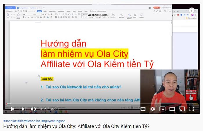 """Một leader của Ola City mời gọi người xem tham gia """"làm giàu"""" với nền tảng này"""