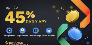 Nhận APY ngày lên đến 45% cùng Binance Liquid Swap
