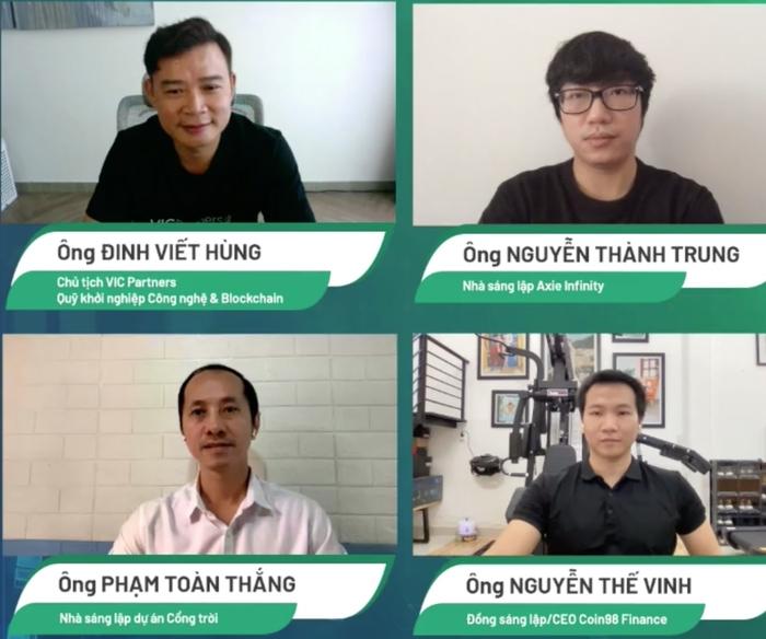 Bốn diễn giả trong CTO Talks ngày 30/7, bàn về những cơ hội, rủi ro khi đầu tư vào blockchain nói chung và thị trường tiền điện tử, NFT nói riêng.